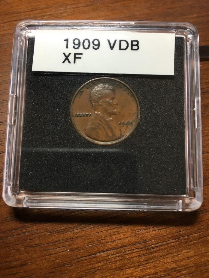 1909 VDB WHEAT PENNY XF CONDITION BEAUTY PROBLEM FREE LINCOLN PENNY MAKE OFFER