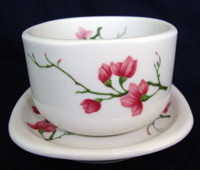 Syracuse Trend China Square Soup Cup & Saucer,  Berkeley Cherry Blossom