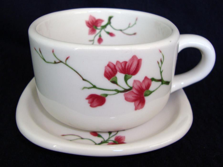 Syracuse Trend China Square Cup & Saucer, Berkeley Cherry Blossom