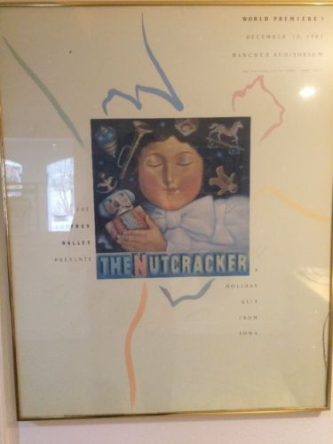 Joffrey Ballet The Nutcracker World Premier Poster--Signed By Caste And Framed
