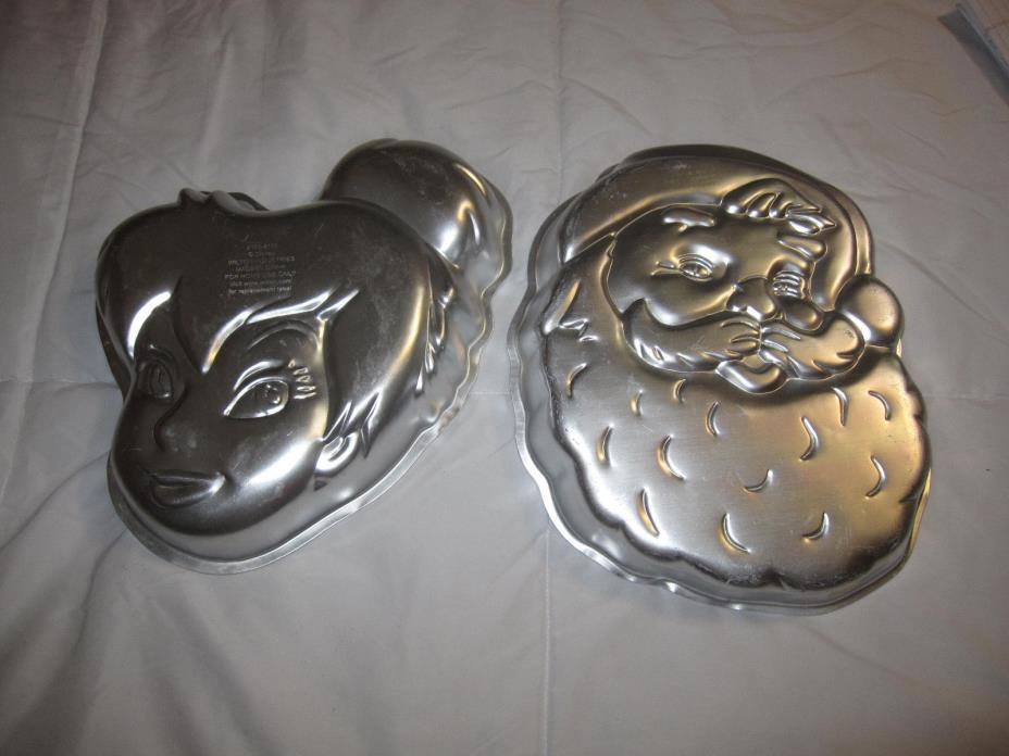 Wilton Tinker Bell Disney cake pan -Wilton Santa Clause cake pan