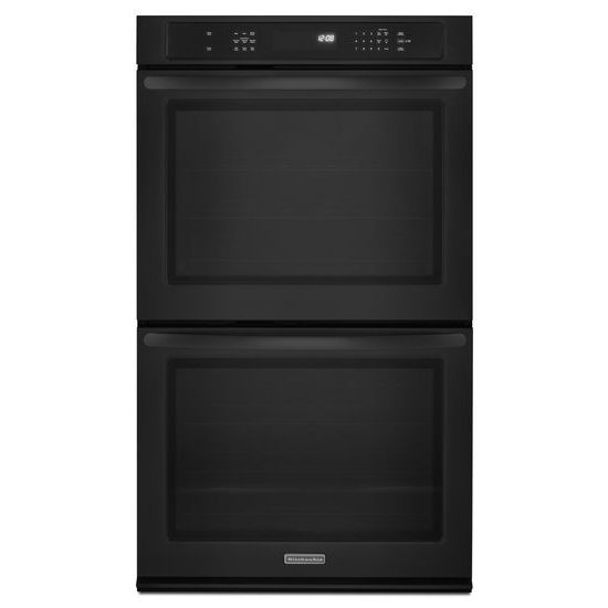 KitchenAid KEBS279BBL Double Electric Oven with Convection Black