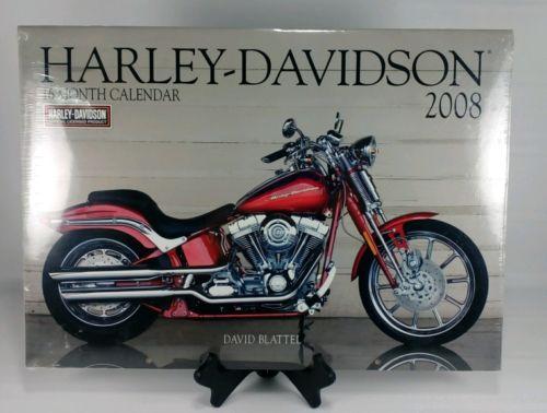 NIB 2008 16-Month Harley Davidson Calendar