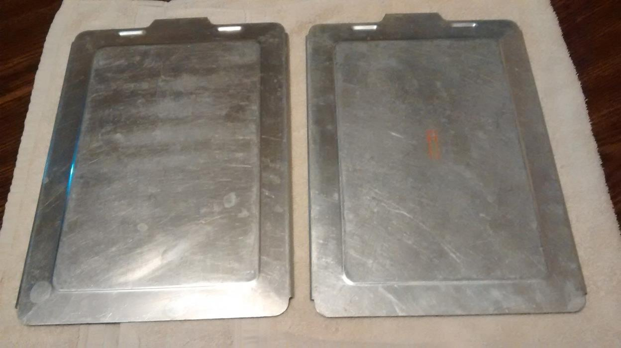 Replacement Slide on Lid Cover Only Aluminum 13x9 Rectangle Cake Pans Lot of 2