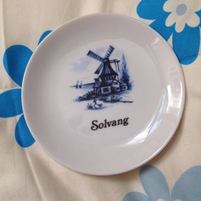 Vintage Papel USA 91605 Solvang California Solvang House Art Dish