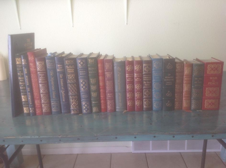 easton press leather bound lot of 22