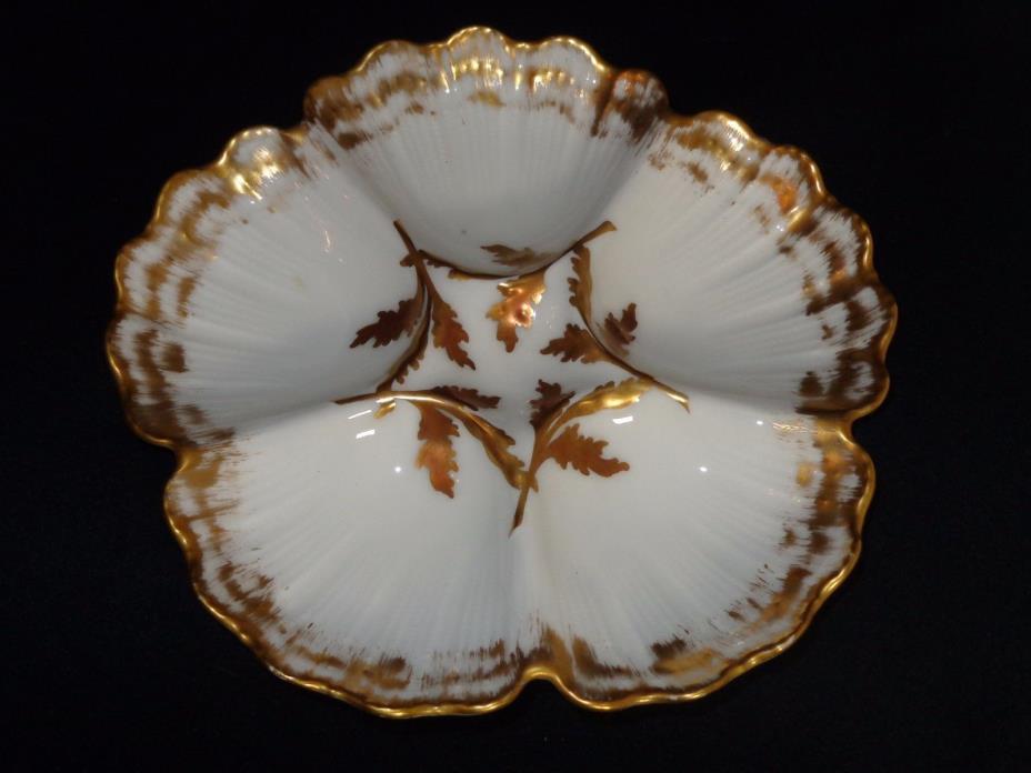 Antique T&V Limoges Oyster Seafood Plate