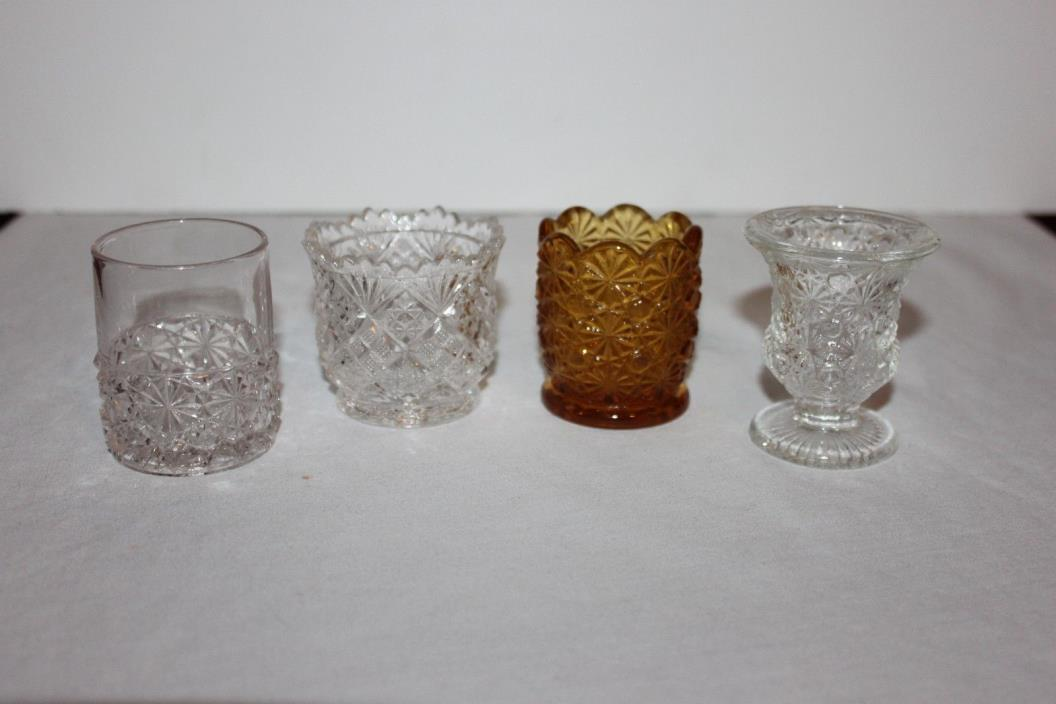 Assorted Vintage Glass Toothpick Holders