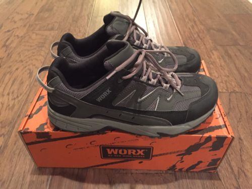 WORX Red Wing Mens Aluminum Safety Toe Work Shoes Gray 5010 Size 10 LikeNew