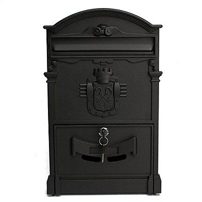 Doitb Mailbox Wall-Mount Mailboxes European Style Outside Aluminum Wall Mount
