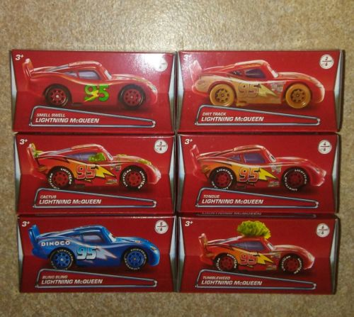 Disney Pixar Cars 2017 Lightning Mcqueen Puzzle Box Set of 6