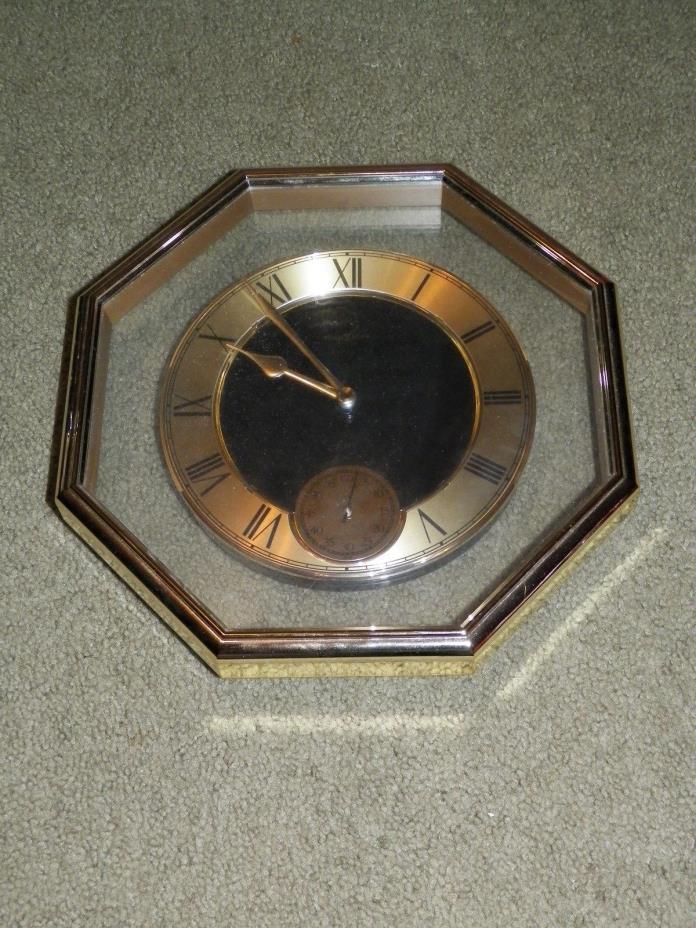 HOWARD MILLER  QUARTZ  Wall Clock, Second hand-VINTAGE-