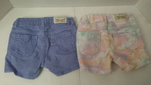 2pc LOT  3T Levis shorts girls used