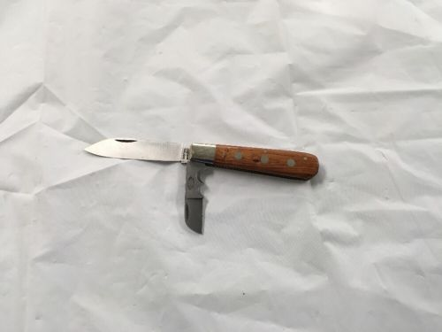 CHRISTIANS SOLINGEN GERMANY 2 BLADE FOLDING KNIFE WOOD HANDLE