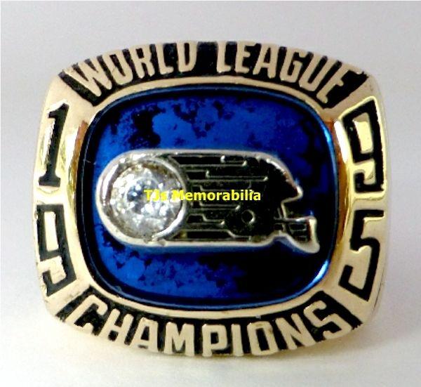 1995 FRANKFURT GALAXY WLAF NFL EUROPE CHAMPIONSHIP RING CHAMPIONS 10K GOLD