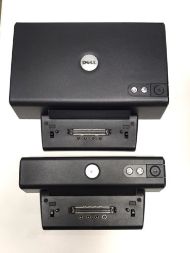 Lot of 2 Dell Docking Station Port Replicator 1 Dell PD01X AND 1 Dell PR01X