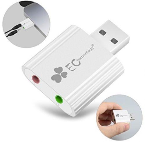 USB Sound Adapter, EC Technology Aluminum External USB Sound Card Audio Adapter