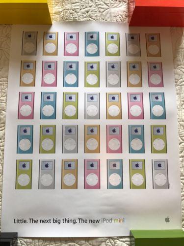 Rare Original Apple iPod Mini Poster Store Display