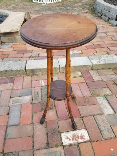 Aesthetic Movement Arts and Crafts Bamboo Plant Candle Stand Side Table c.1910