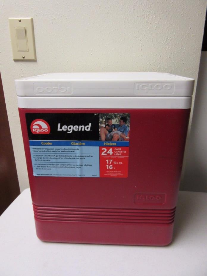 Igloo Legend Cooler 24-Can Capacity, Red