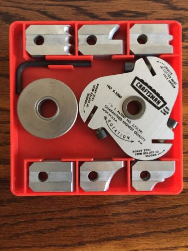 Excellent Craftsman 6 Set Radial Table Saw Molding Blade in Plastic Box 9-3200