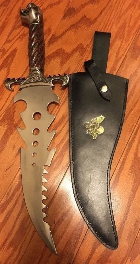 Panther Head Jim Frost Cutlery Surgical Steel Bowie Knife 12