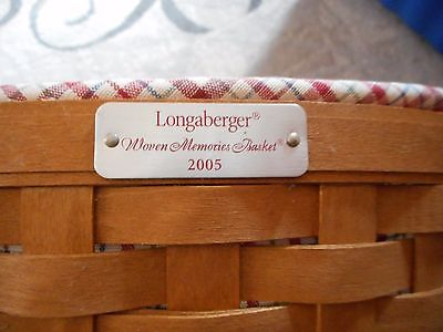 RARE USA Made Longaberger Woven Memories 2005 Tour Basket