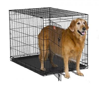MidWest iCrate Beds Equipment Folding Metal Dog Crate