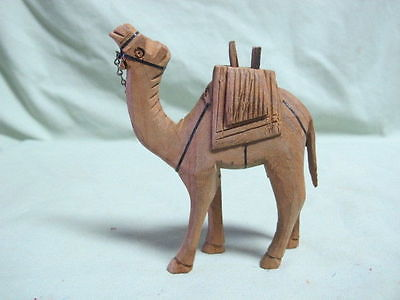 Vintage Carved Wooden Camel Figure