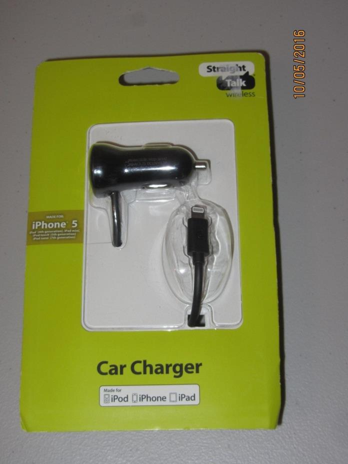 STRAIGHT TALK WIRELESS CAR CHARGER FOR IPHONE 5
