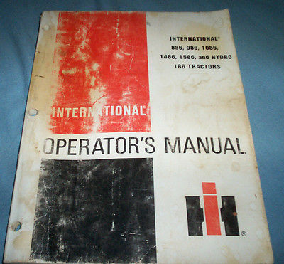 IH International  886-986-1086-1486-1586-Hydro 186 Tractors Operator's Manual