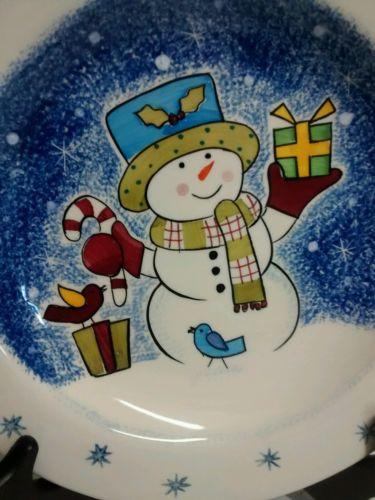 Studio Nova Frosty Snowman - Set of 4  Salad Plates KT405