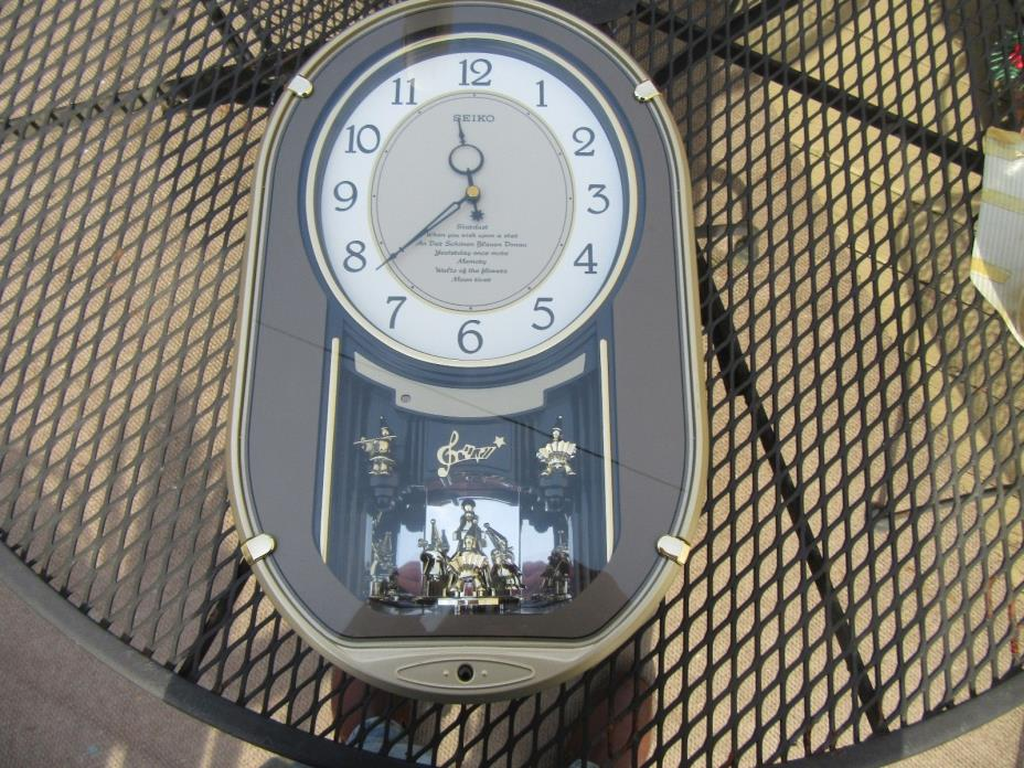 seiko melodies motion wall clock for sale classifieds