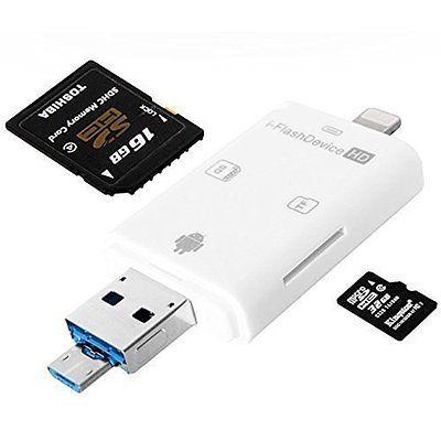 iNassen Memory Card Readers Multiple SD Card reader, Lightning USB OTG SDHC SD
