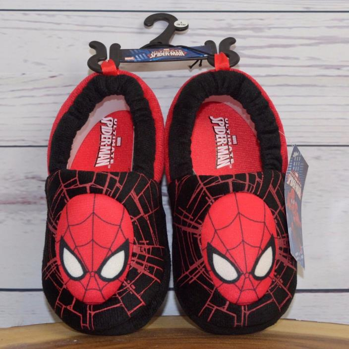 Marvel Ultimate Spiderman Toddler House Slippers Shoes Kids Boy Size Medium 7 8
