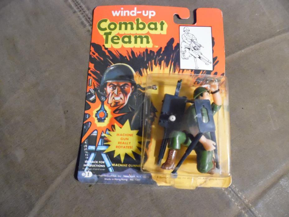 Durham Industries Wind-up Combat Team  Machine Gunner   1985