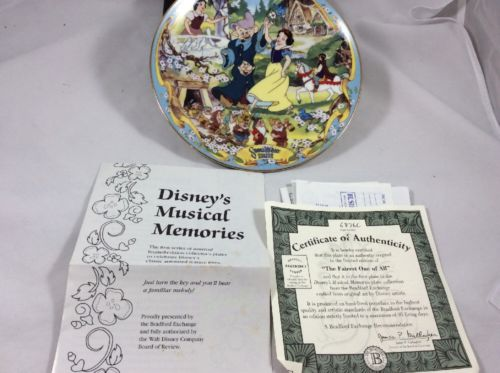 Disney Musical Memories Collectible Musical Plate 8