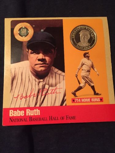 Babe Ruth Baseball Hall of Fame 500 Home Run Club .999 Pure Silver Proof Coin