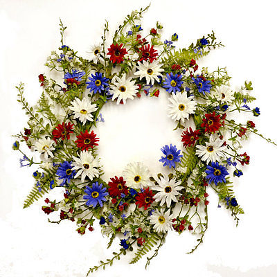 Floral Home Decor Red White and Blue 22