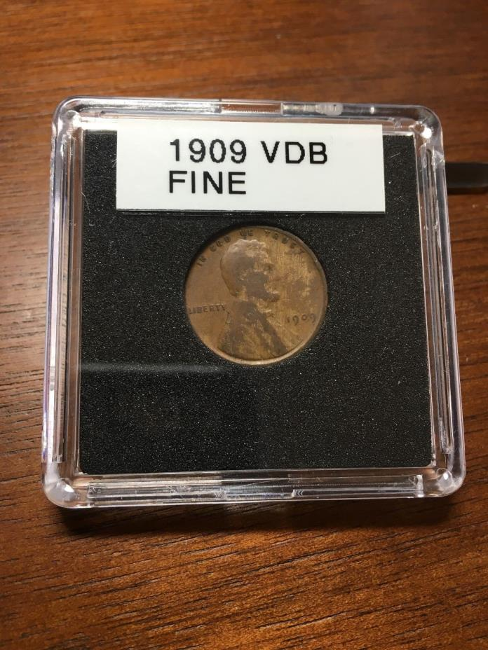1909 VDB WHEAT PENNY F CONDITION BEAUTY PROBLEM FREE LINCOLN PENNY MAKE OFFER