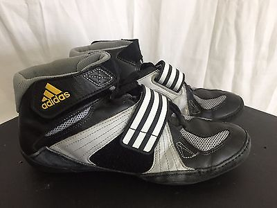 Adidas Ape Black Wrestling Velcro Shoes, Mat Size US 8 Men's