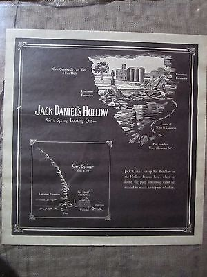 RARE Vintage Jack Daniel's Hollow Cave Spring Looking Out Distillery PRINT