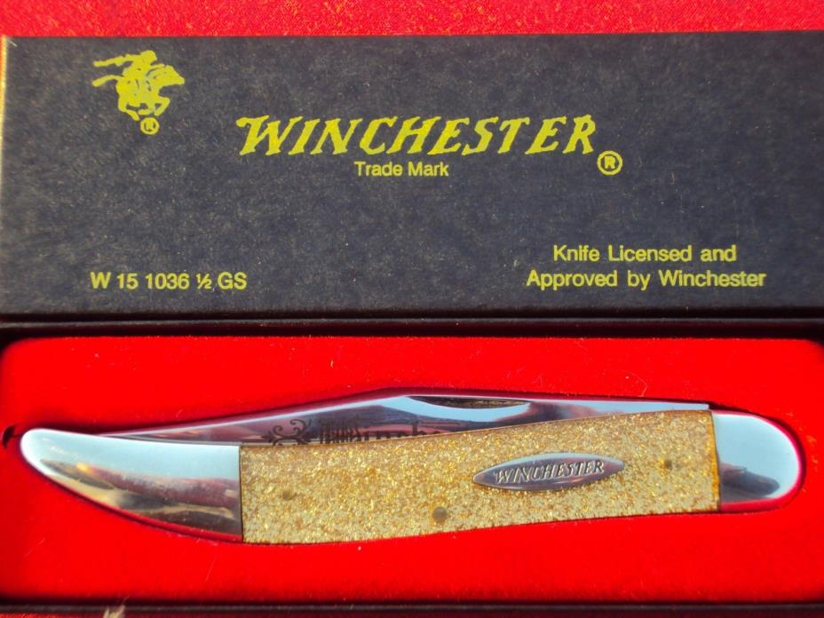 '92 Winchester Knife W15 1036 1/2 GS  GOLDSTONE NEW Texas Toothpick Knife~ Rare