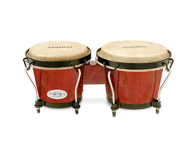 Toca 2100RR Synergy Bongos in Red Wood Finish PROAUDIOSTAR