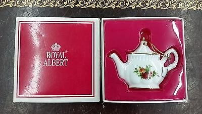 Royal Albert Old Country Roses Teapot Ornament Doulton