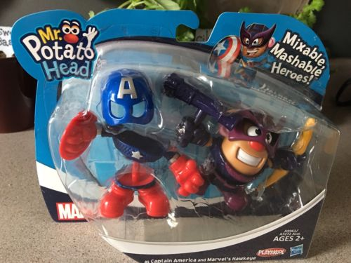 PLAYSKOOL MR. POTATO HEAD MARVEL HEROES Captain America & Hawkeye Figures NEW