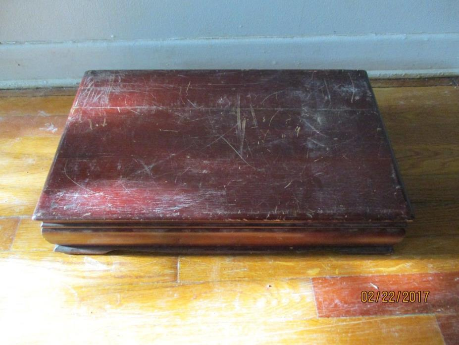 Great Vintage Large 19x12x9 1930's Wooden Box Antique