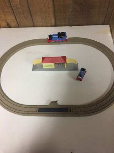 EUC Plastic Thomas Train Railroad Set