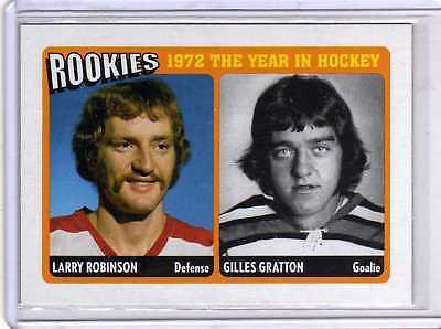 LARRY ROBINSON/GILLES GRATTON 09/10 ITG ROOKIES 1972 R-06 Insert Hockey Card