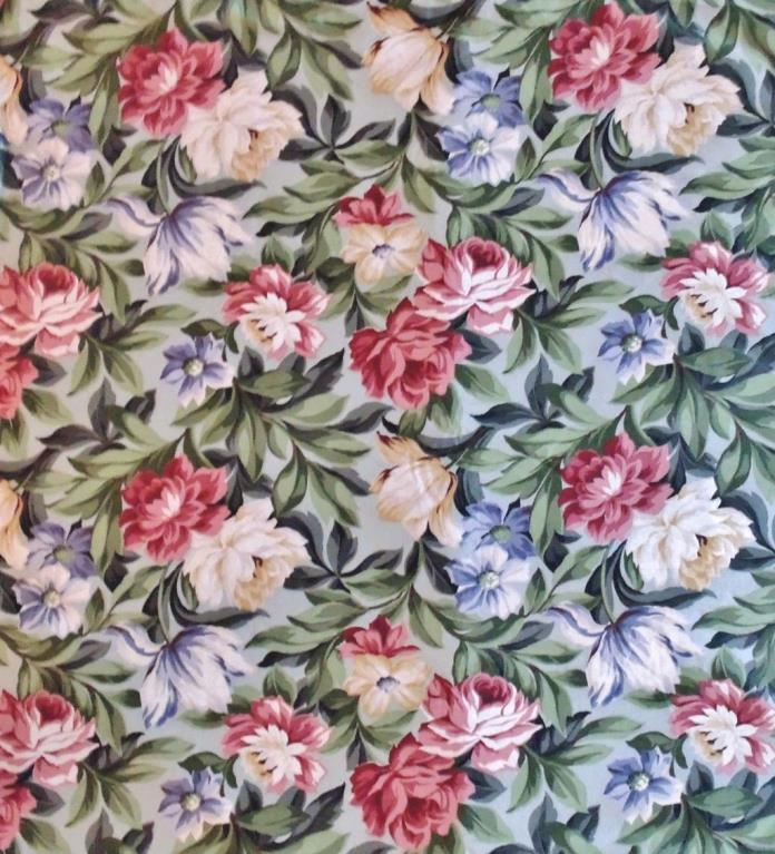 1 of 23 Yards Chintz Fabric Saison Floral Flowers